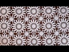 Crochet easy Motif for shawl Part 3 How to join motifs - YouTube