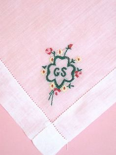 VINTAGE 1950'S EMBROIDERED GIRL SCOUT HANKIE HANDKERCHIEF...but Vintage the Best for Me!!  .... Pepper!