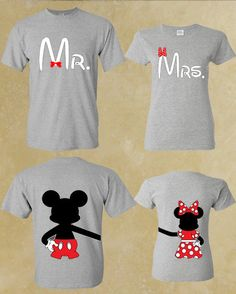 MR And MRS Mickey Minnie Couple T-Shirts. Couple T-Shirts Matching T-shirts Love - Front and Back. Best Couple.
