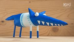 The painted Fox by MarLitoys on Etsy