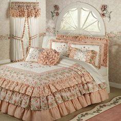 Melody Floral Ruffled Grande Bedspread Bedding... I have expensive taste...