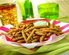 Fried Green Beans, but I used garlic salt instead of reg salt.  Also used Wheech Bear.  Amazeballs!