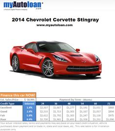 Could you picture a weekend trip to the beach in this Corvette? Finance it now at www.myautoloan.com