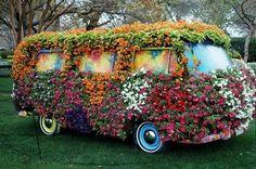 Imagen de flowers, hippie, and car