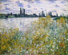 Isle of Flowers on Siene near Vetheuil - Claude Monet