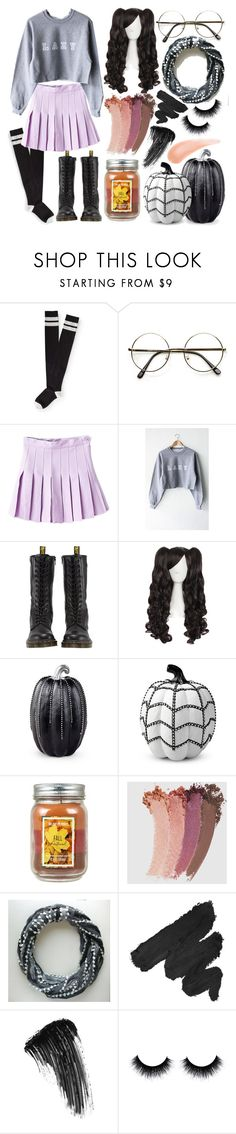 """""""Lazy Fall Day"""" by dappershadow ❤ liked on Polyvore featuring Aéropostale, WithChic, Dr. Martens, Improvements, Gucci, NYX and Eyeko"""