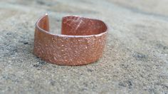 Textured Copper Ring Adjustable Unisex Band Wide by ApachesWife #metalwork #ring #handmadeholiday