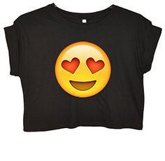 Heart Eyes Face Emoji Crop Top