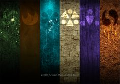Most anything Zelda-related speaks to my heart! Zelda Songs Wallpaper Pack by ~paridox on deviantART