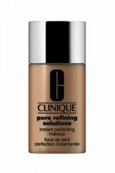 lLa nueva base de Clinique Pore Refining Solutions Instant Perfecting Makeup es la perfecta base líquida que te hace lucir un rostro sin poros en forma instantánea. Búscala en septiembre en los mostradores de Clinique.
