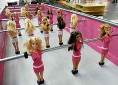 Ha! Ha! Ha! Barbie Foosball Table ... Be gentle! ;) FROM: http://media-cache-ak0.pinimg.com/originals/b4/9f/1f/b49f1f257a8c8d0858fdab0fc1ed278d.jpg