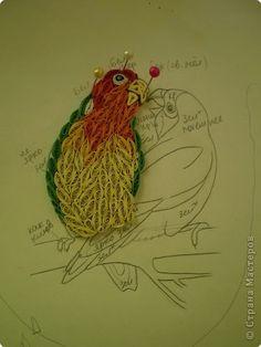 Картина панно рисунок Квиллинг Неразлучники Бумага фото 3