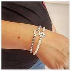 Quaste ❤️ Armkette Silber ⭐️ AUSWAHL ⭐️ Glasperlen Geschenkidee ❤️