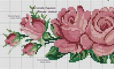 This Pin was discovered by Nur Cross Stitch Rose, Cross Stitch Borders, Cross Stitch Flowers, Cross Stitching, Cross Stitch Patterns, Beaded Embroidery, Cross Stitch Embroidery, Embroidery Designs, Swedish Weaving