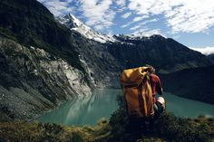 Hiker destination - mountains with lake.   @VeryValerie
