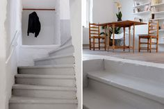 grey stairs - will look amazing down into the cellar of our house like these
