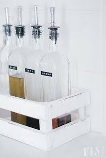 Keep your oils and vinegars in order   #dymo #label #kitchen