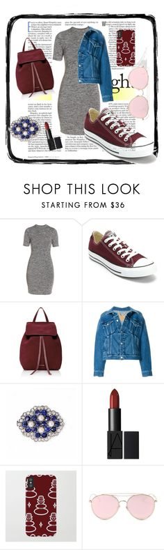 """""""Trendy girl"""" by lamijakanita ❤ liked on Polyvore featuring French Connection, Converse, Mansur Gavriel, Balenciaga and LMNT"""