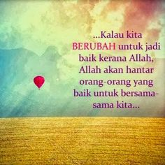 Berubah kerana Allah..:*