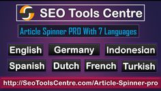 Today we can find a wide range of free SEO tools websites. SEO tools Centre become popular today and visitors are increasing day by day. Each tool in SEO tools Centre provides accurate and fast results. These tools are easy to use anyone can use them according to their need. These days online competition getting tougher and get high ranking of your website obviously needs better SEO tools so that the workload can be minimized.  We offers world's no.1 best free article spinner tool for spin.