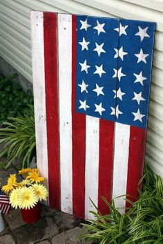 Made 2 of these pallet flags - I love them!