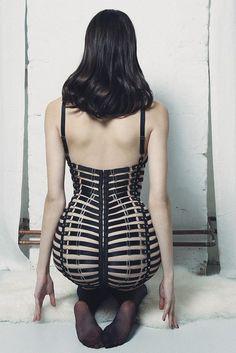 Mania Lingerie - 'Aura Leather Frame Dress'