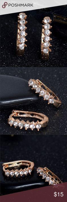 18k Gold Plated Earrings 18K Gold Plated Hoop Earrings Jewelry Earrings