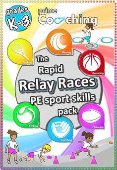 relay races sport pe resource ideas kindergarten elementary school teaching