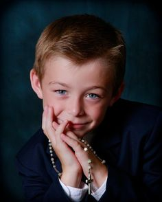 First Communion portrait.  #Communion #Photography by Lois