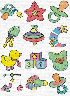 cute baby set - baby card embelishments