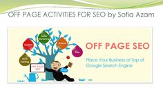 Off page activities for seo by sofia azam