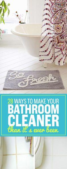 17 surprisingly easy ways to deep clean your bathroom | bathroom
