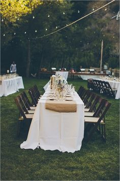 outdoor wedding ideas, but w/o the burlap