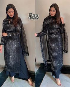 For booking take screenshot and whatsapp us on 📲 99789 44216 Party Wear Indian Dresses, Pakistani Fashion Party Wear, Pakistani Dresses Casual, Dress Indian Style, Pakistani Dress Design, Indian Fashion, Black Pakistani Dress, Pakistani Clothing, Abaya Style
