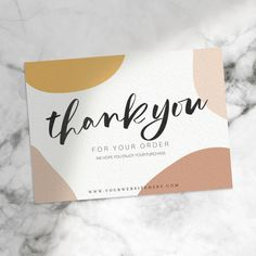 Thank You Card Template Printable Thank You Cards, Thank You Card Template, Thank You Card Sample, Small Business Cards, Business Thank You Cards, Thank You Card Design, Thanks Card, Business Plan Template, Name Cards