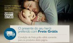 A Natura está com frete grátis para compra online do presente do Dia dos Pais!