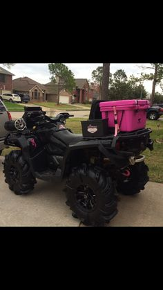 Already got the pink orca to go with it! Dirt Bike Girl, Girl Motorcycle, Motorcycle Quotes, Outlander, Can Am Atv, Fifth Wheel Trailers, Atv Four Wheelers, Dirtbikes, Modified Cars