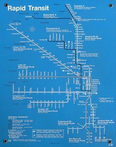 Historical Map: Chicago CTA Rapid Transit Map, 1983