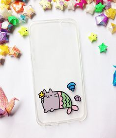 ♥ Hand painted cat mermaid phone cases    ♥ All cases will be made to order    ♥ This design is individually hand-painted using special permanent acrylic paints onto crystal clear plastic. It is then finished with two coatings of varnish to ensure maximum durability.    - The design is painted on the inside of the case so the paint cannot be affected.    - If you love the design, but don't see your phone model in the list, please contact us. We are always able to order in cases for any phone…