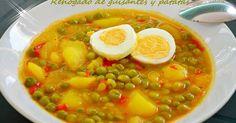Fabulosa receta para Rehogado de guisantes y patatas (Thermomix). Buenisima !!!!