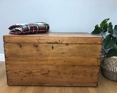 Items similar to Large Painted Pine Blanket Box with Upholstered Cushioned Seat ~ Padded Bench / Seat / Chest / Trunk ~ Made to order for you on Etsy Padded Bench, Bench Seat, Bedroom Chest, Blanket Box, Trunks And Chests, Storage Chest, Pine, Handmade Gifts, Vintage