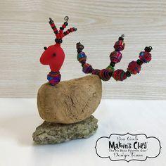 Makin's Clay® Blog: Funky Bird Mixed-Media Sculpture by Bea Grob