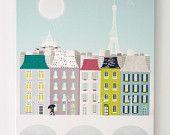 Paris, Art Print. via Etsy.