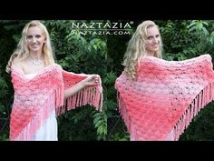 Crochet Beachy Keen Shawl - DIY Tutorial (It's Peachy Keen too!) - YouTube