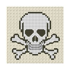 An Original counted cross stitch kit by Fido Stitch Studio. This 'mini' stitch kit could be completed in a few evenings. This kit contains everything you need to complete your project. Cross Stitch For Kids, Cross Stitch Boards, Mini Cross Stitch, Counted Cross Stitch Patterns, Cross Stitch Designs, Cross Stitch Embroidery, Cross Stitch Skull, Graph Paper Art, Bead Crochet Rope
