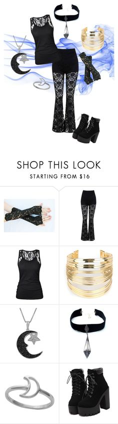 """""""Moonlight Witch"""" by angelina-elisabeth-mcknight ❤ liked on Polyvore featuring Miss Selfridge, WithChic, Jewel Exclusive and Child Of Wild"""