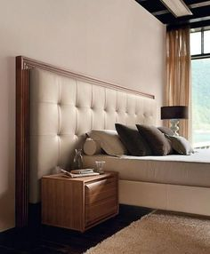 While glittering living rooms and blinding entryways are often the rule, Luxury Master Bedroom interior design is more restrained. Bedroom Furniture, Home Furniture, Furniture Design, Bedroom Decor, Pallet Furniture, Rustic Furniture, Vintage Furniture, Wall Mounted Headboards, Headboards For Beds