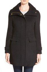 Cole HaanSignature Stand Collar Wool Blend Coat