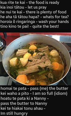 Dinner Maori Words, Food Tech, Maori Art, Filipino Recipes, New Zealand, Kai, Adventure Kids, Teaching Resources, Preschool