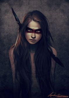 Charlie Bowater Warrior paint, war paint, costume eye makeup, Native American, Indian